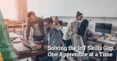 Digital apprentices training to manage IoT technology for an organization.