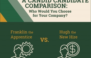 "A candid comparison: who would you hire for your company? Franklin Apprenticeships vs. ""Hugh"" the new hire."