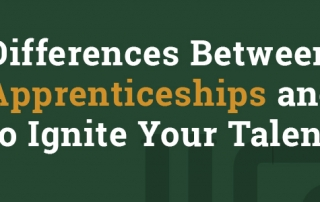 Top 3 differences between apprenticeships and internships.